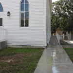 b'nai abraham synagogue side entrance ramp and walk